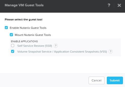 How to use Nutanix AHV VM Guest pre and post scripts with SnapShots